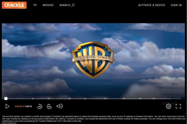 Crackle video player