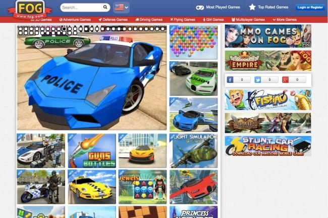 Free Online Games homepage