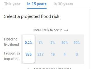 Flood Factor projected flood risk