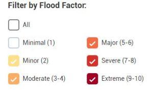 Flood Factor risk scale