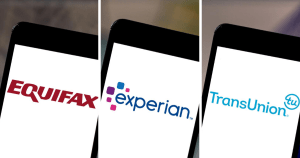 The 3 main credit bureaus are Equifax, Experian and TransUnion