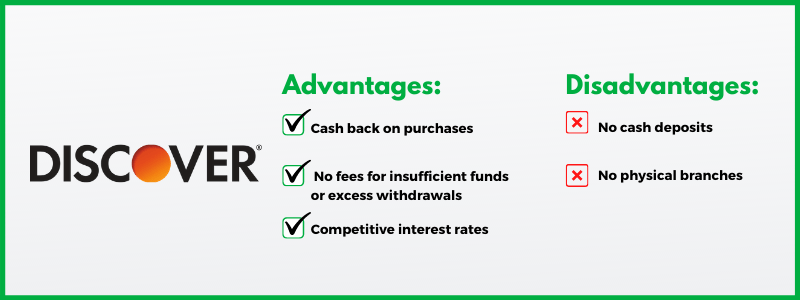 Discover Bank offers cash back, competitive interest and no fees.