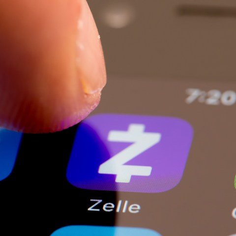 Cash App, Zelle and PayPal on a smartphone