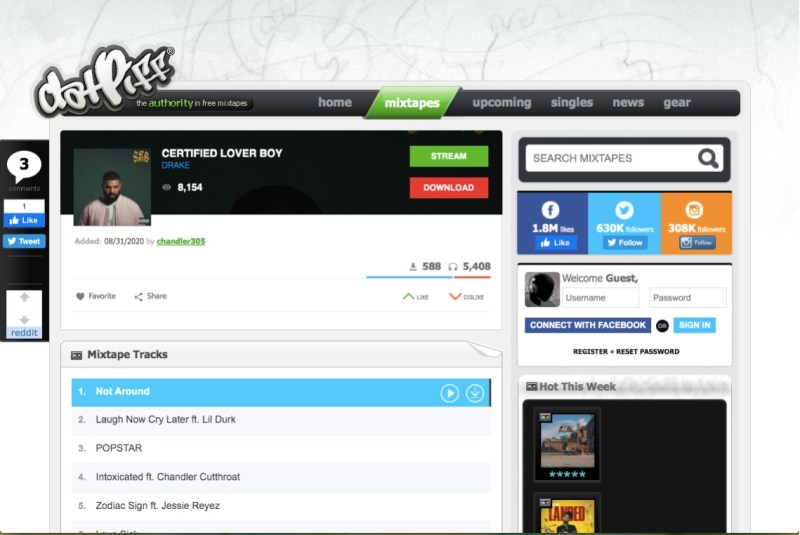 DatPiff free urban music downloads