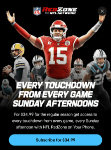 NFL RedZone Mobile from NFL app