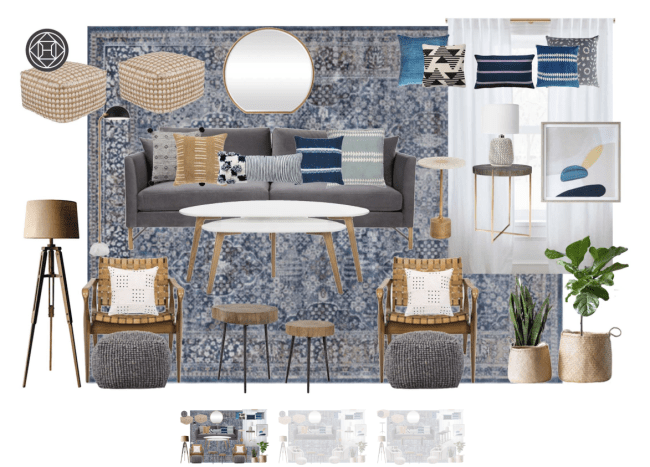 A Havenly mini final room design created by an interior designer.