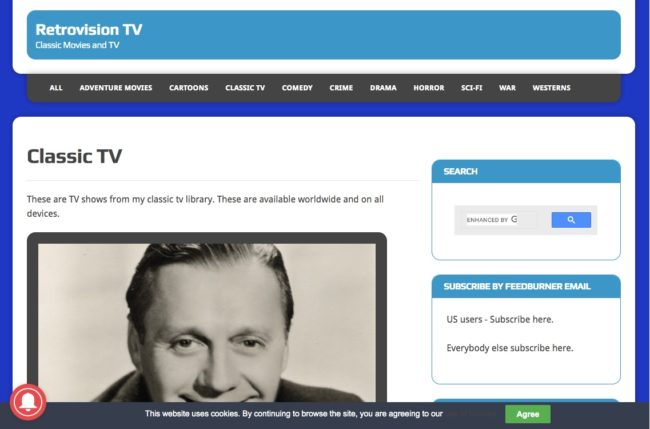 Retrovision - watch free classic TV shows online