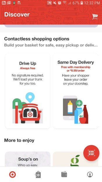 Target Drive Up Option in the app