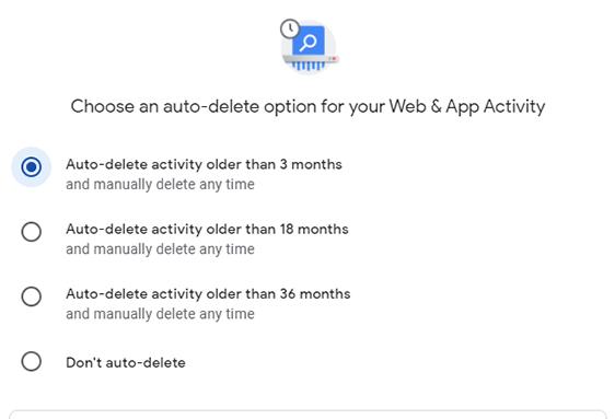 How to auto-delete your Google data