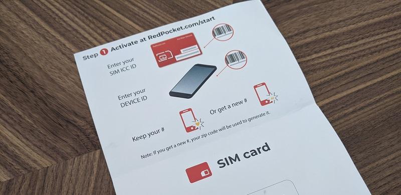 Red Pocket Mobile activation
