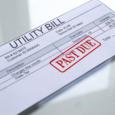 Past-due utility bill