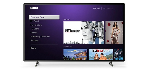 "Roku's ""Featured Free"" section"