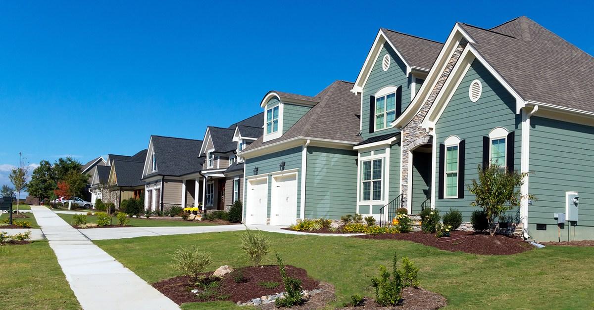 Homes in a U.S. metropolitian area