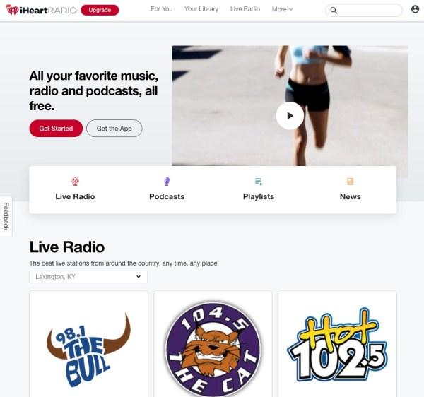 iHeartRadio website