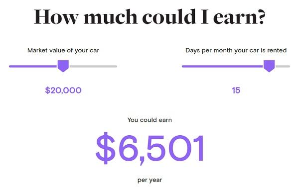 Turo earnings estimate (Image: Turo.com)