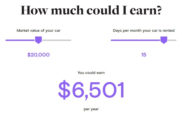 Turo earnings estimate (Image: Turo.com)