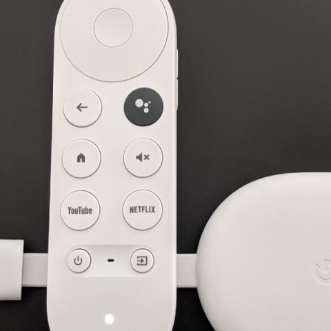 Chromecast with Google TV has a dongle and a remote.