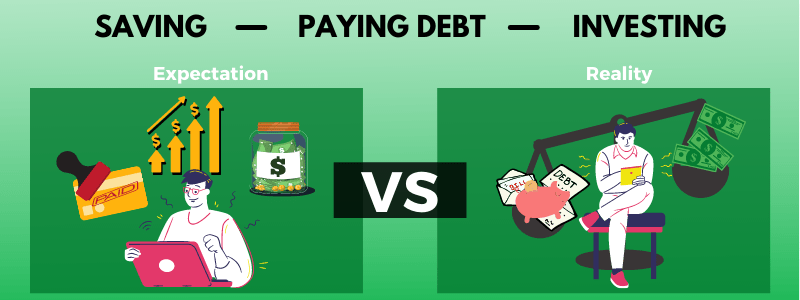 Should you invest, save money or pay off debt?