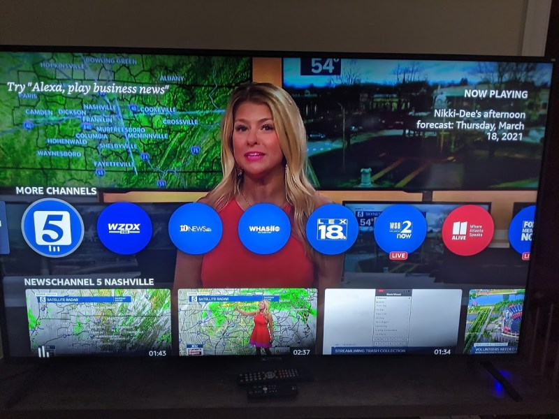 Amazon News provides streams from different television markets.