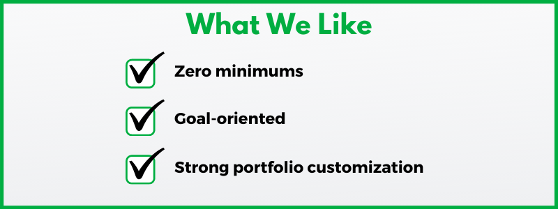 Our Betterment review uncovered a robo-advisor with no minimum investment requirement.