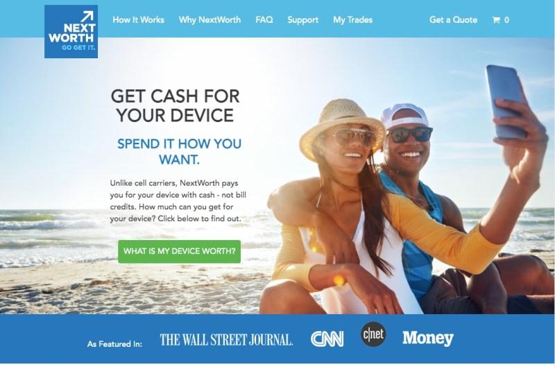 NextWorth's homepage