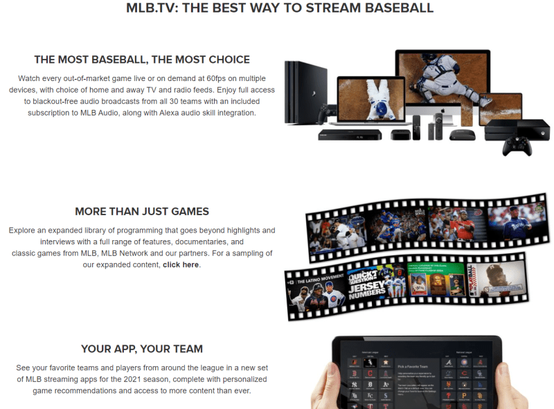 MLB.TV 2021 information