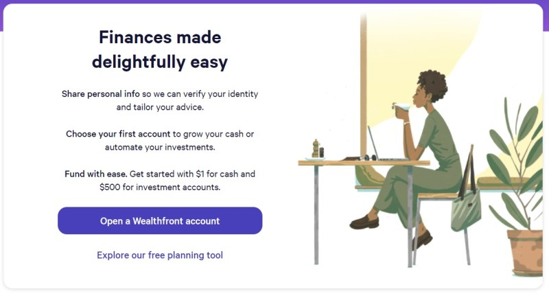 Wealthfront Review: If you want to use the free financial planning tools, make sure you click on the correct link.