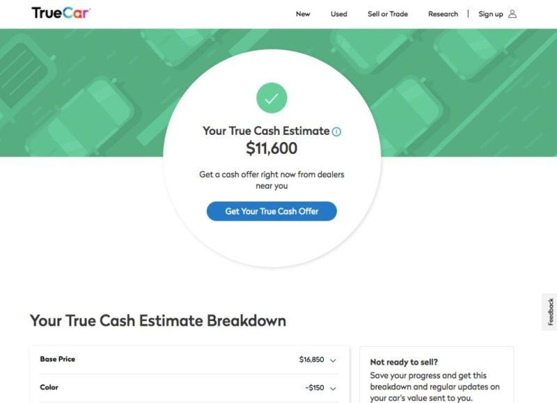 True Cash Estimate