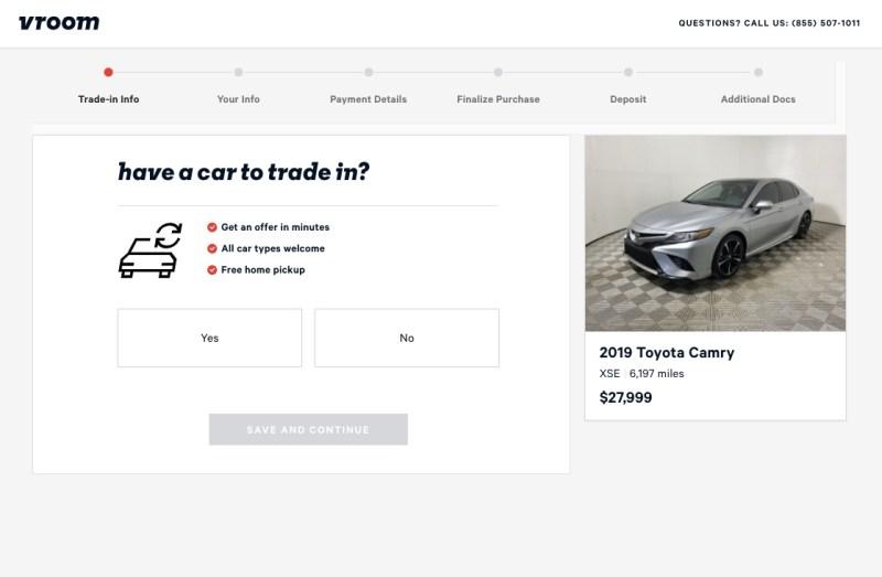Purchasing a car through Vroom