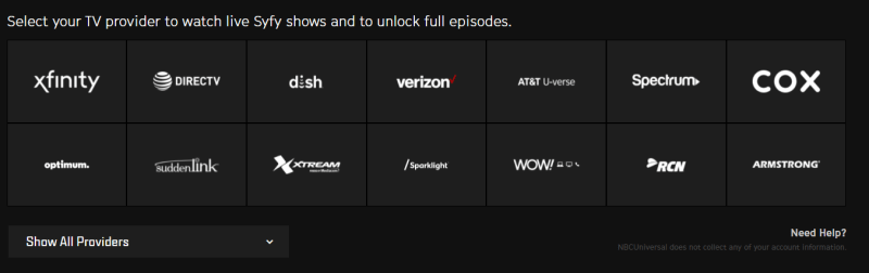 On-demand streaming for Syfy