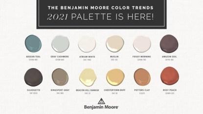 Benjamin Moore color palette 2021