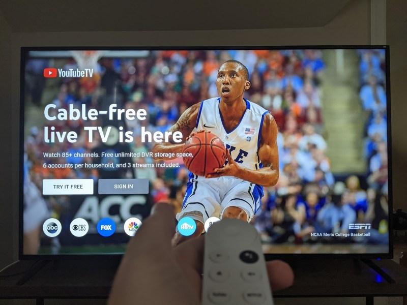 YouTube TV on Chromecast with Google TV