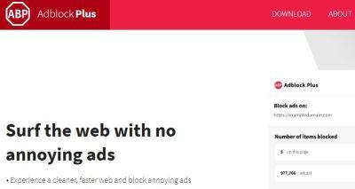 AdBlock Plus ad blocker
