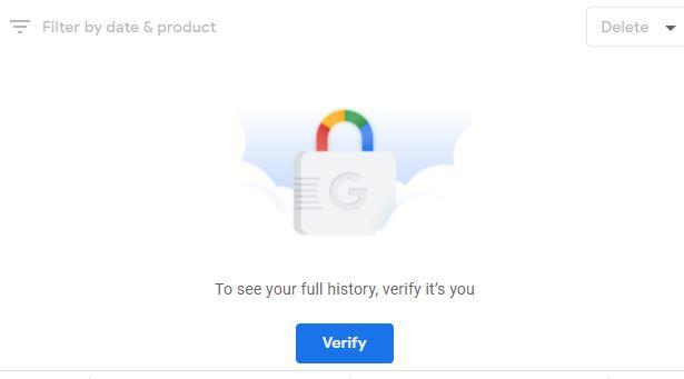 Google search history lock