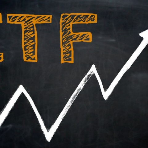 An ETF, or exchange-traded fund, is an investment similar to a mutual fund but trades like a stock.