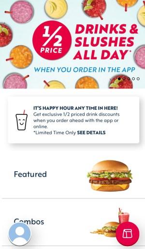 food deals in the Sonics app
