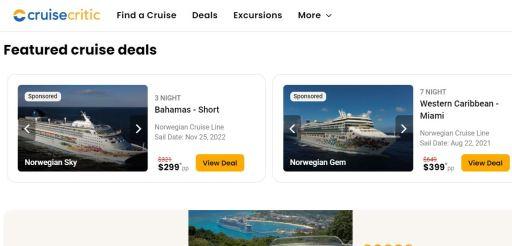 CruiseCrite.com last-minute cruise deals