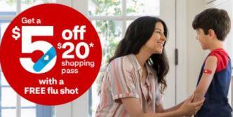free flu shot at CVS plus $5 off $20 purchase