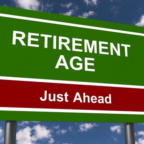 retirement age sign