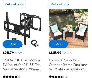 Walmart patio furniture sale