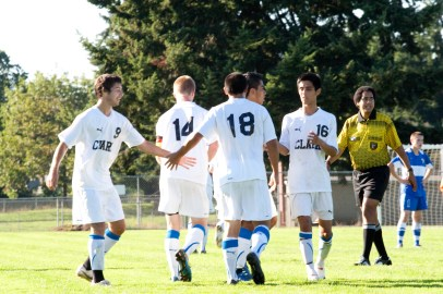 Clark College Mens Soccer defeats Puget Sound Community College at home at Christensen Field