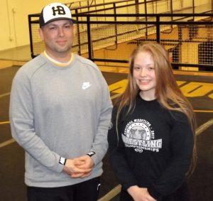 Allison Blaine and coach Vernon Bryant