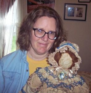 C Jane Reid Author and Agnes doll