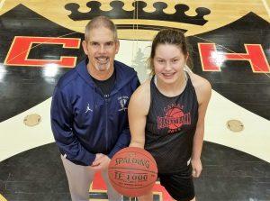 Courtney Clemmer Basketball Camas coach Scott Preuninger