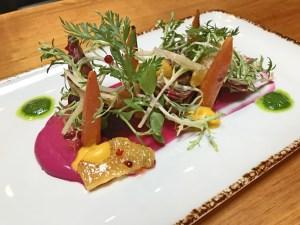 Chef Miguel Sosa Vancouver beet salad