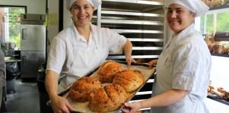 Josie and Sadie at Bakery