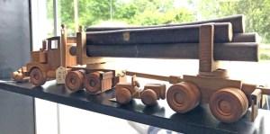Log Truck Wood Toy at Sadie and Josies