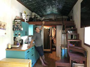 Austin and Jenna Ernesti Tiny Home Inside