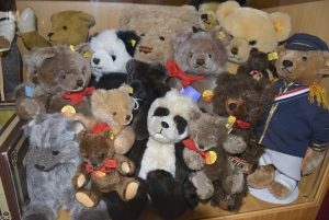Two Rivers Heritage Museum Teddy Bears off all shapes and sizes are on display