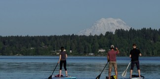 paddleboarding Olympia Washington